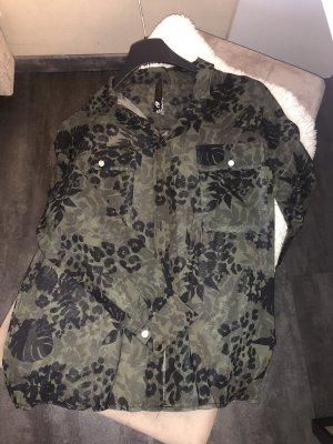 CoolCat Shirt Blouse dark green