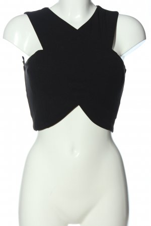 CoolCat Top corto nero elegante