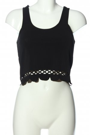 CoolCat Cropped Top schwarz Casual-Look
