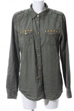 CoolCat Langarm-Bluse khaki Casual-Look