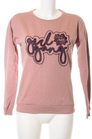 CoolCat Rundhalspullover pink Motivdruck Casual-Look