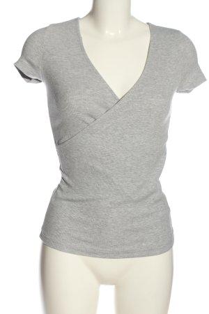 CoolCat V-Neck Shirt light grey flecked casual look