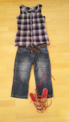 Street One Pantalón corto de tela vaquera azul acero-gris pizarra