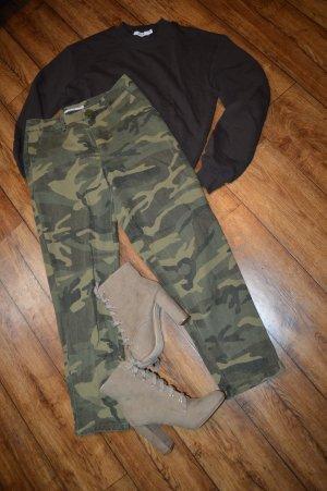 Nakd Pantalón de cintura alta multicolor