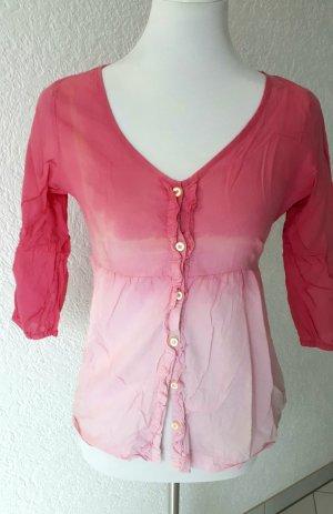 Freeman t. porter Camicetta con arricciature rosa chiaro-rosa