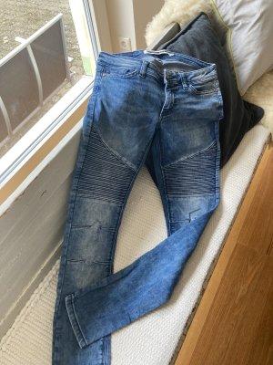 Noisy May Jeans de moto bleu-bleu acier