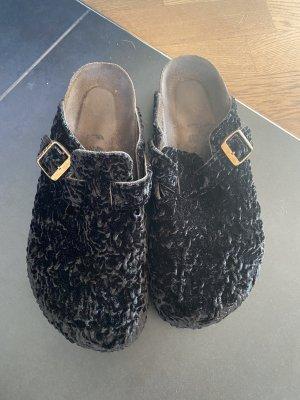 Birkenstock Klompen zwart Wol
