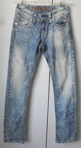 Blue Monkey Jeans coupe-droite bleu coton