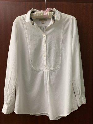 Burberry Long Sleeve Blouse white