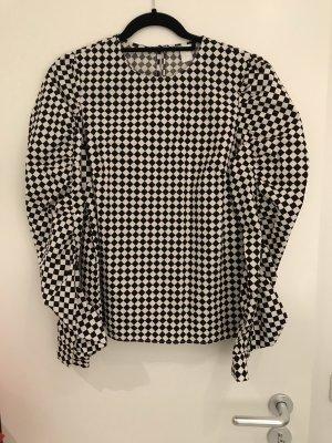 Coole Bluse mit Puffärmeln & Nieten, NEU, H&M, Gr 42