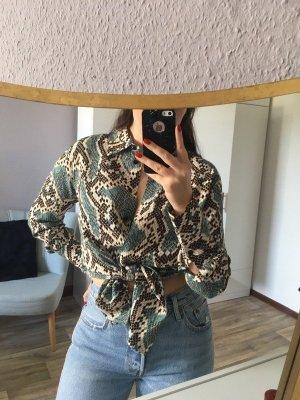 coole Bluse Schlangenprint Animalprint