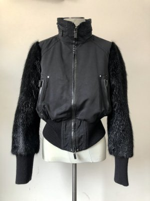 Art To Be Blouson aviateur noir fourrure