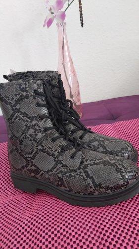 Botas de tobillo negro-gris