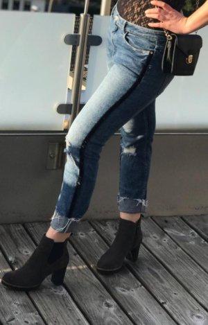 Jeans boyfriend multicolore coton