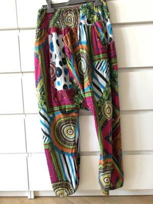 India Pantalón estilo Harem multicolor