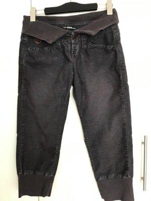 Gas Spodnie Capri taupe-antracyt Bawełna