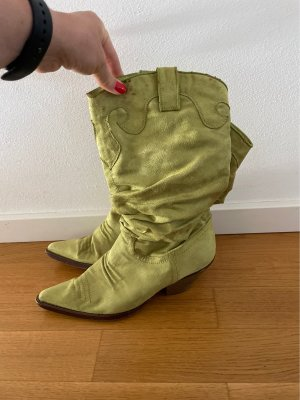 Buty w stylu western jasnozielony