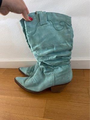 Buty w stylu western jasnoniebieski