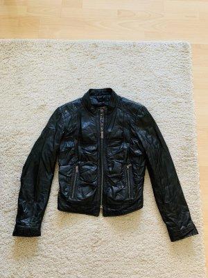 Coole Damen-Lederjacke schwarz