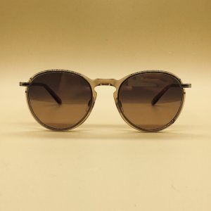 Garrett Leight Gafas panto color rosa dorado acetato