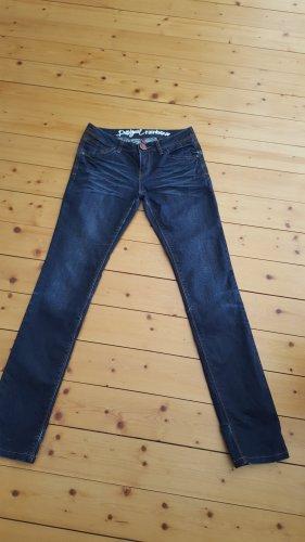 Desigual Jeansy z prostymi nogawkami ciemnoniebieski Bawełna