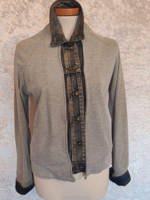 Aust Veste chemise gris clair coton