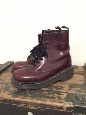 Dr. Martens Platform Boots bordeaux leather