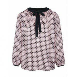 Heine Tie-neck Blouse multicolored polyester