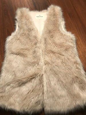 Review Fur vest oatmeal
