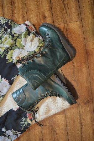 Coole FLY London Damen Stiefel-Boots Gr. 39 Petrol