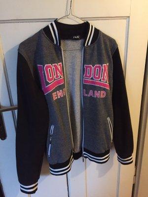 Nanos Chaqueta estilo universitario gris-rosa