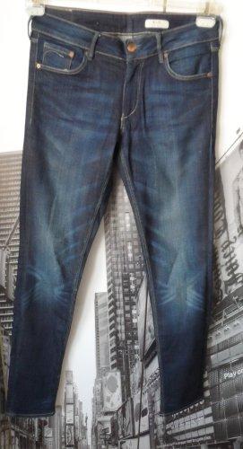 H&M Vaquero slim azul oscuro tejido mezclado
