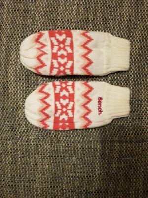 coole Handschuhe von bench weiß punk
