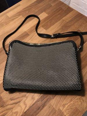 Coole Handtasche, Clutch, Leder mit Nieten von Patrizia Pepe, NEU