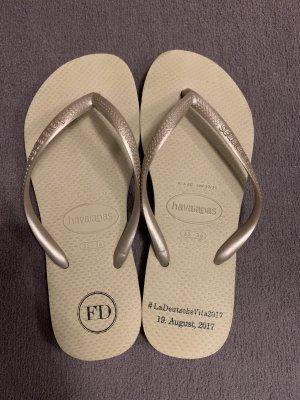 Havaianas Sandalo infradito crema-oro