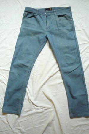 SMOG Pantalone boyfriend azzurro-blu fiordaliso Cotone