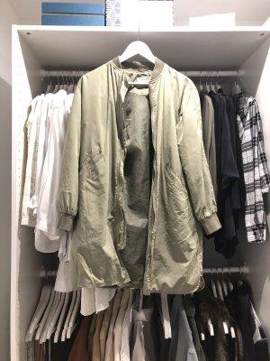 Bershka Long Jacket khaki