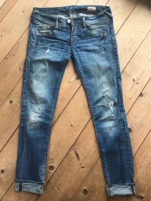 Herrlicher Jeans taille basse multicolore