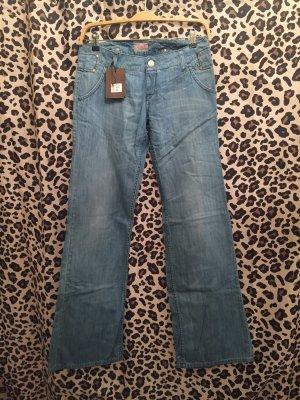 Blaustoff Herrlicher Low Rise Jeans azure cotton
