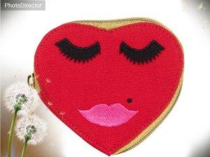 coole Herz Geldbörse von Anna Lomax rot *NEU*
