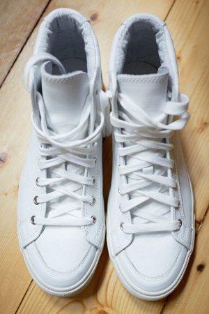 coole High Top Sneaker Schnürer Pointer weiß Leder Gr. 38 brand NEU Retro Style 90er