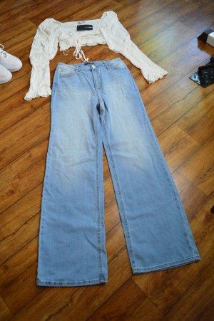 Coole High Waist Fashion Nova Jeans mit weitem Bein Gr. 36
