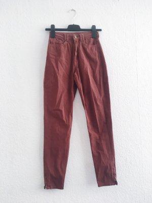 American Apparel High Waist Trousers russet