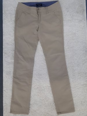 American Eagle Outfitters Stretch Trousers beige cotton