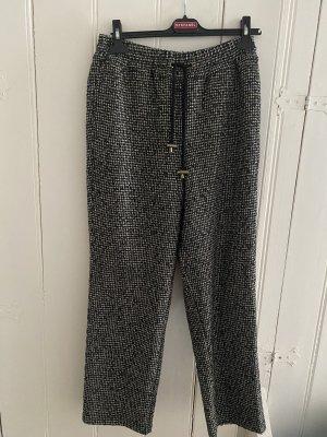American Vintage Pantalon taille haute noir-blanc