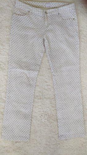 Lala Berlin Pantalon cargo blanc cassé-bleu pâle coton