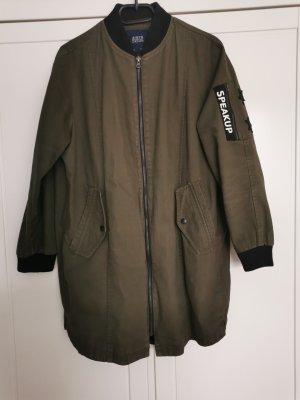 Zara Military Jacket black-green grey