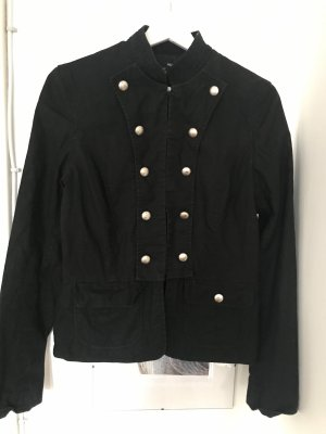 H&M Naval Jacket black-silver-colored