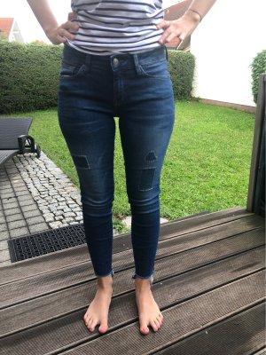 Mavi Jeans Co. pantalón de cintura baja azul