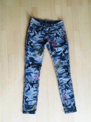 Dopasowane jeansy Wielokolorowy